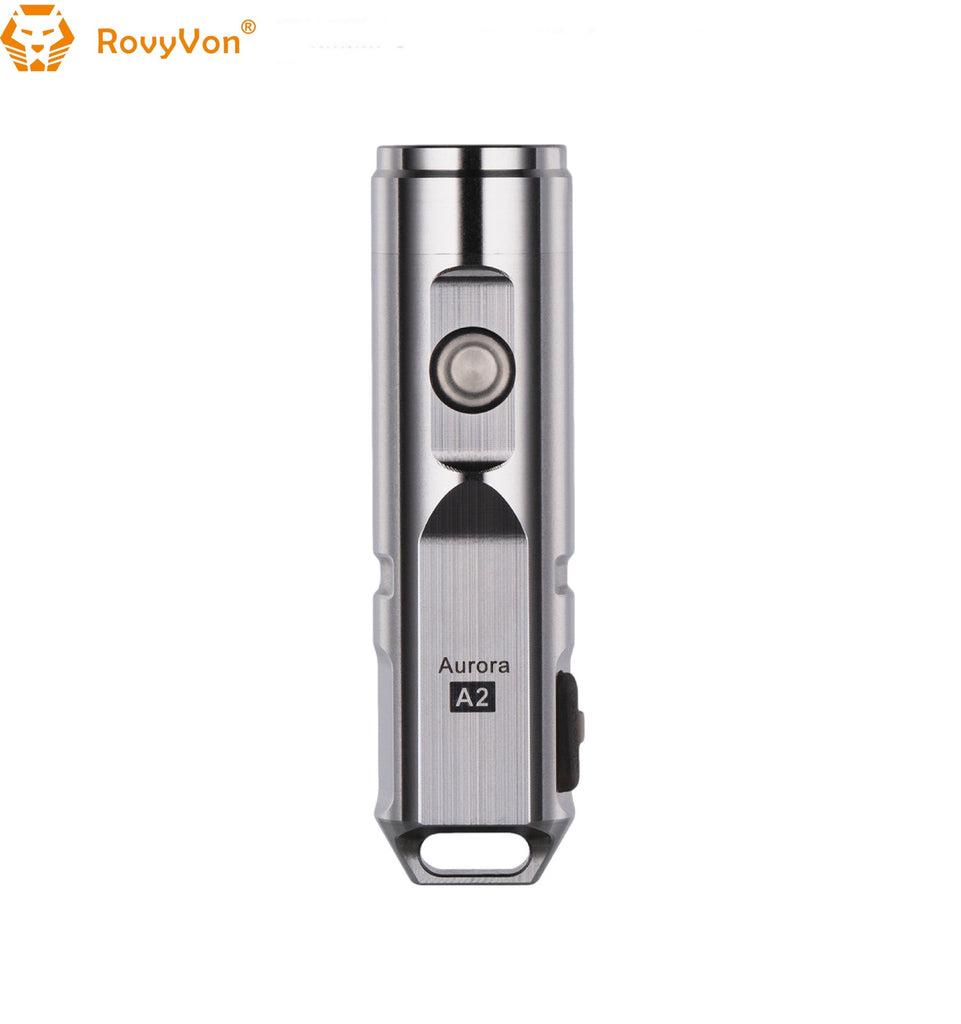 RovyVon Aurora A2x Stainless Steel EDC Keychain Flashlight