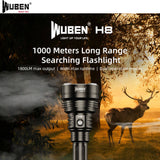 WUBEN H8 1800LMS 250000CD 1000M Tactical Flashlight
