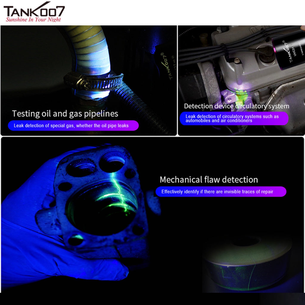 TANK007 UV122 Dual LEDs White LED+UV 365nm 5W Flashlight