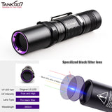TANK007 UV-AA01 365nm 3W High Power Pure UV Flashlight