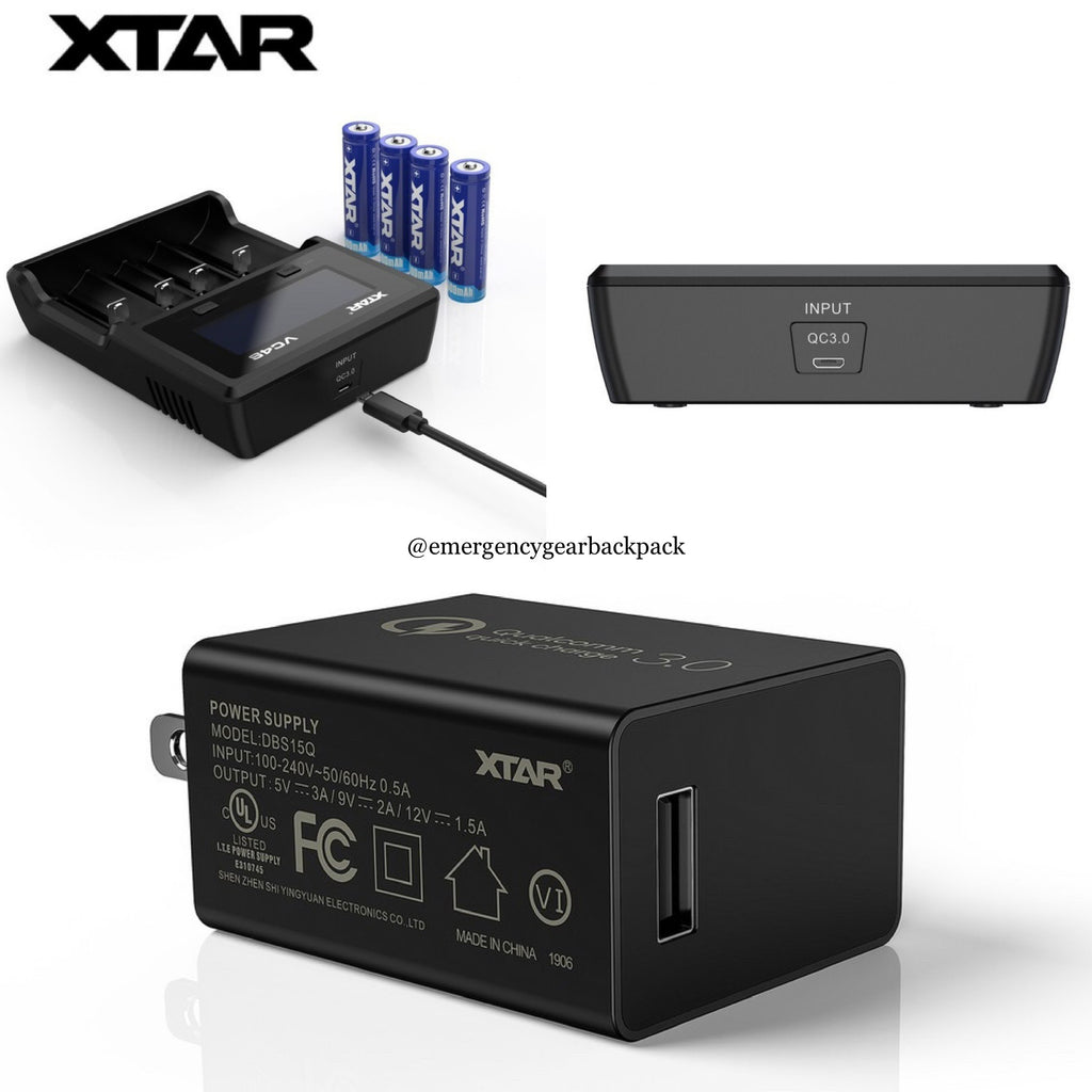 XTAR 18W QC 3.0 USB Wall Adapter
