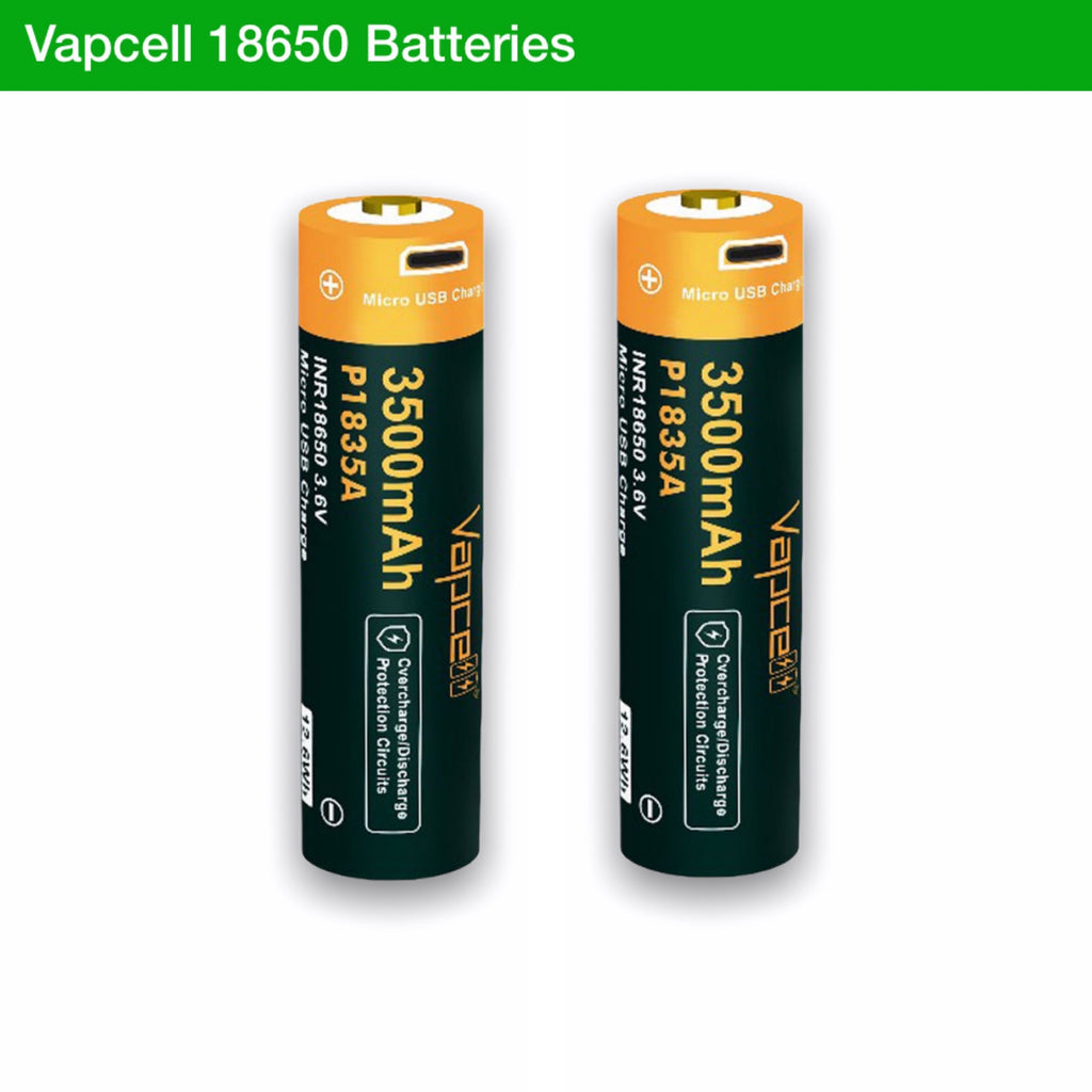 Vapcell P1835A 18650 3500mAh 3.6V USB Rechargeable Li-ion Battery