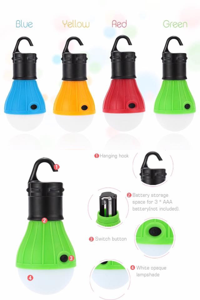 Portable Hanging LED Tent Lamp