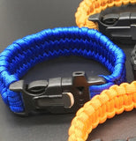 Outdoor Paracord & Flint Fire Starter & Whistle