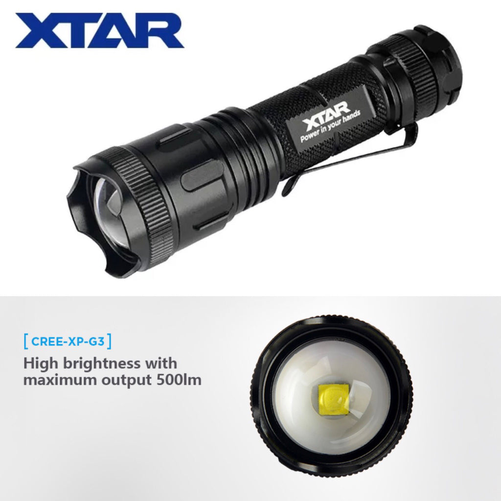 XTAR WK007 500lm Throw Beam 175m Zoomable