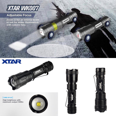 XTAR WK007 Tactical Zoomable Flashlight
