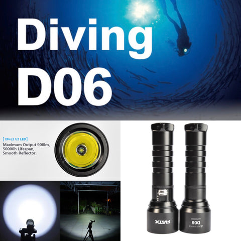 XTAR D06 L2 U2 Diving Flashlight
