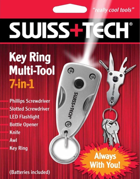Swiss+Tech 7-in-1 Utility LED Keyring