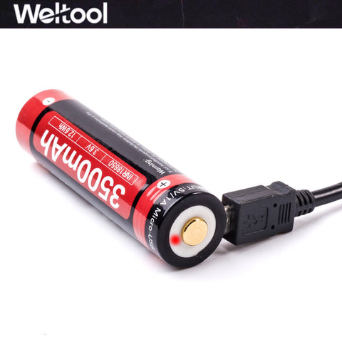 Weltool UB18-35 18650 3500mAh USB Rechargeable Li-ion Battery