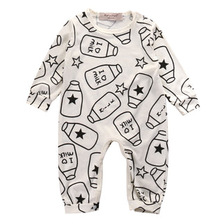 Baby Toddler Boys or Girls NZ Milk Bottle Print Onesie (0 - 18 Months)