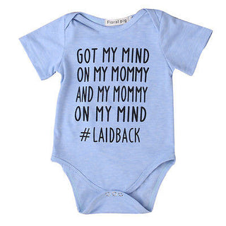 "Unisex NZ ""GOT MY MIND ON MY MOMMY"" Onesie (0 - 18 Months)"