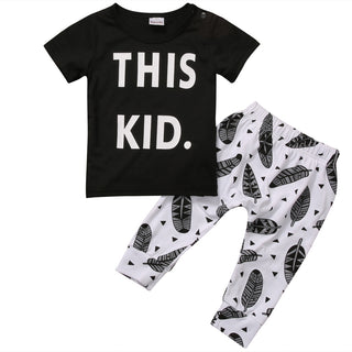 "Unisex NZ ""This Kid"" Top + Pants Set (4 - 24 Months)"