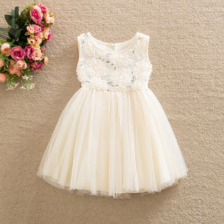 Girls NZ Beautiful Sleeveless Lace Dress (2T - 6T)