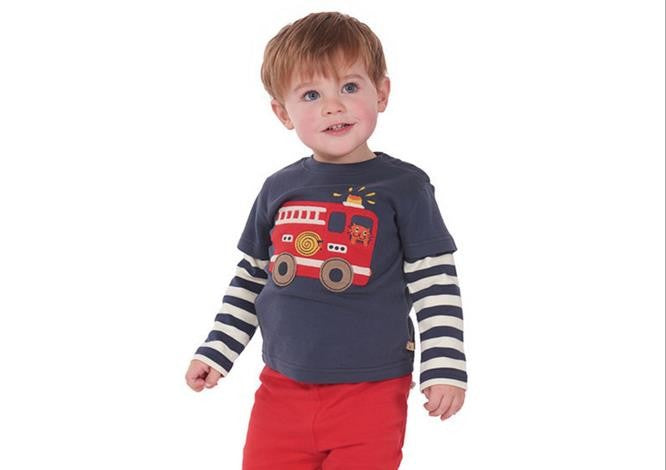 Boys NZ  Fire Truck Long Sleeve T-Shirt (18 Months - 6T)