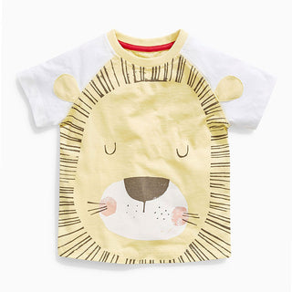 Boys NZ Big Yellow Lion T-shirt  (18 Months - 6T)
