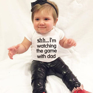 "Unisex NZ ""SHH I'M WATCHING THE GAME"" Onesie (0 - 18 Months)"