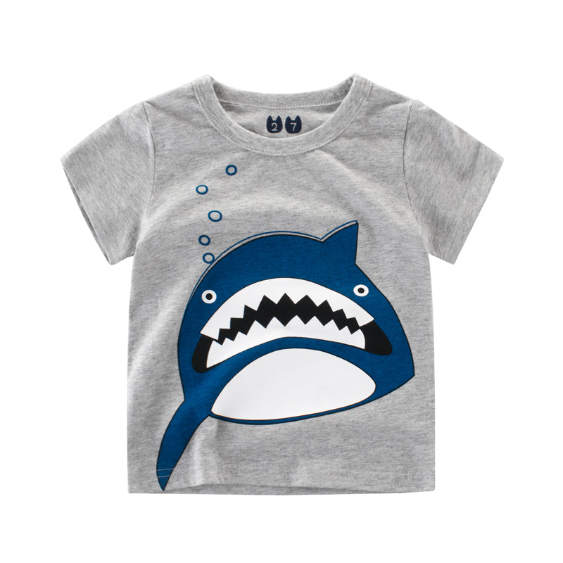 Boys NZ Blue Shark T-shirt  (24 Months - 6T)