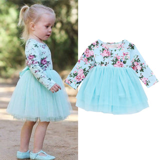 Girls NZ Floral Princess Tutu Tulle Dress (6 - 18 Months)