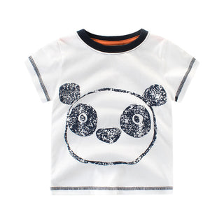 Boys NZ White Panda T-shirt (24 Months - 6T)