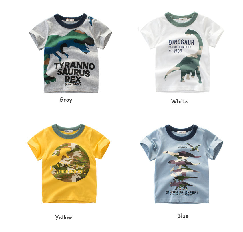 Boys NZ  100% Cotton Dinosaur T-Shirt (24 Months-8T)