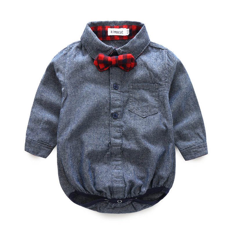 Boys NZ Shirt With Bow + Jeans Set (3 - 24 Months)