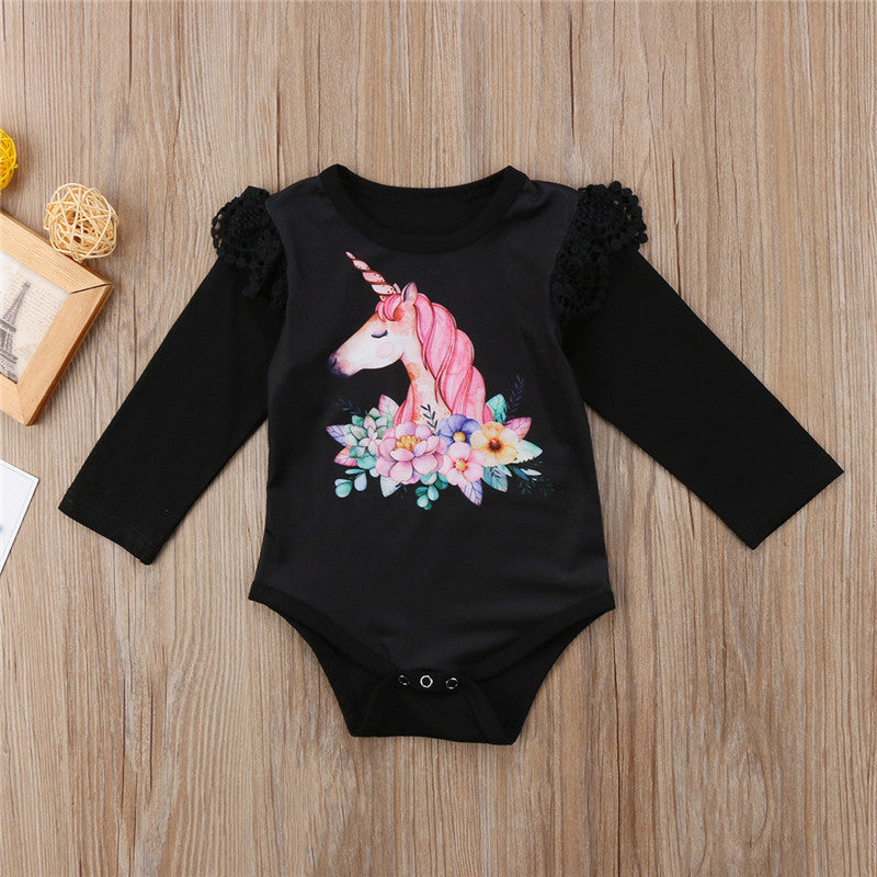 Girls NZ Unicorn Long-Sleeve Onesie (6 - 18 Months)