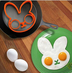 Hot Rabbit, Owl, Skull, Heart Shape Silicone Sun Cloud Egg Mold Ring Cooking Tools