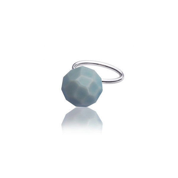 facet ring - blue