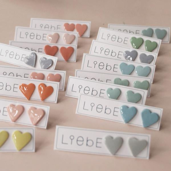 Heart earrings - grey