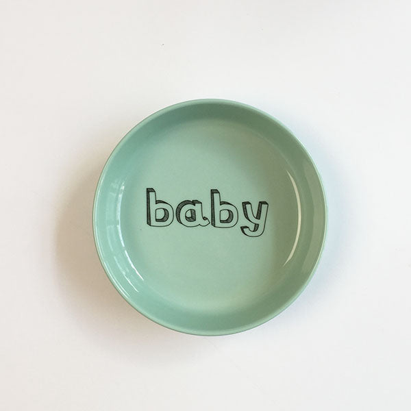 baby bowl - mint