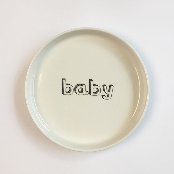 baby plate - white