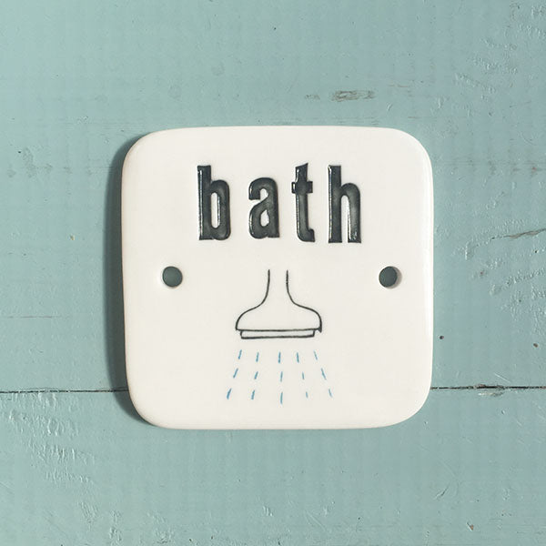 bath sign - black