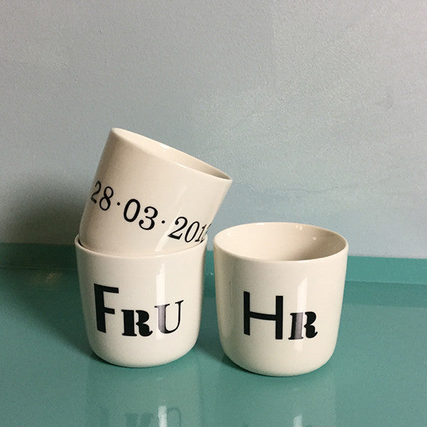 "wedding cups - ""alphabet"" letters"