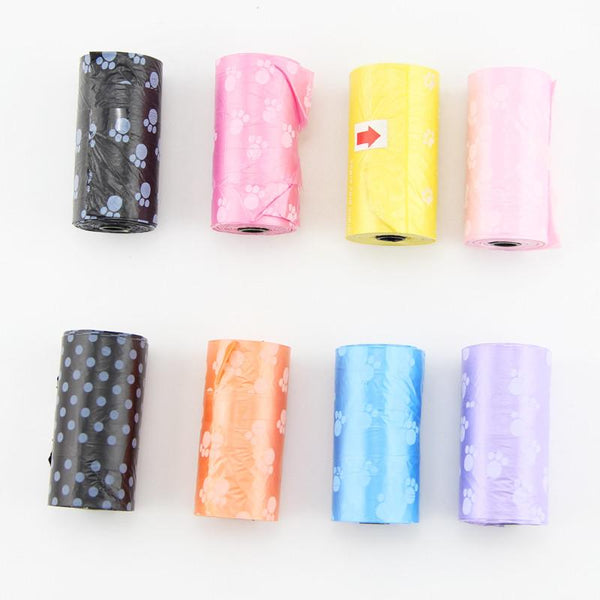 1 PCS Pet Waste Poop Bags Dog Puppy for Cat Clean Up Refill Garbage, 7 Colors.