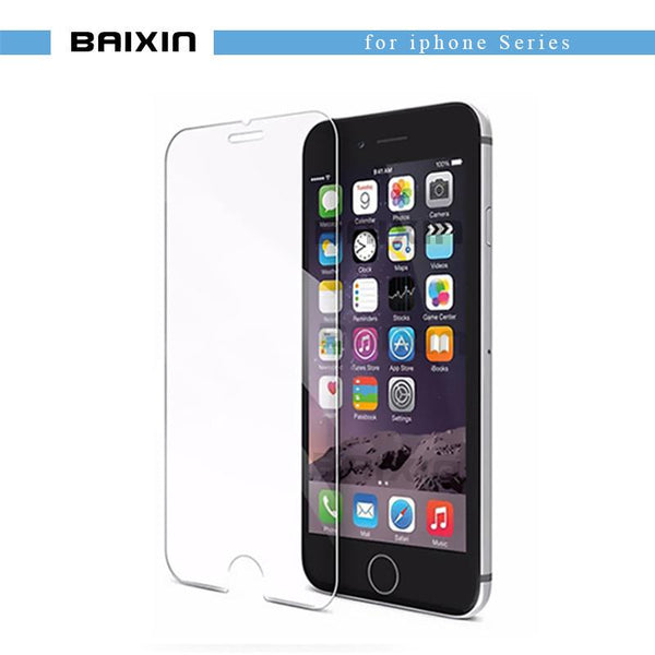 9H Tempered Glass For iphone 4s 5 5s 5c SE 6 6s plus 7 plus screen protector protective guard film front case cover +clean kits 9H tempered glass