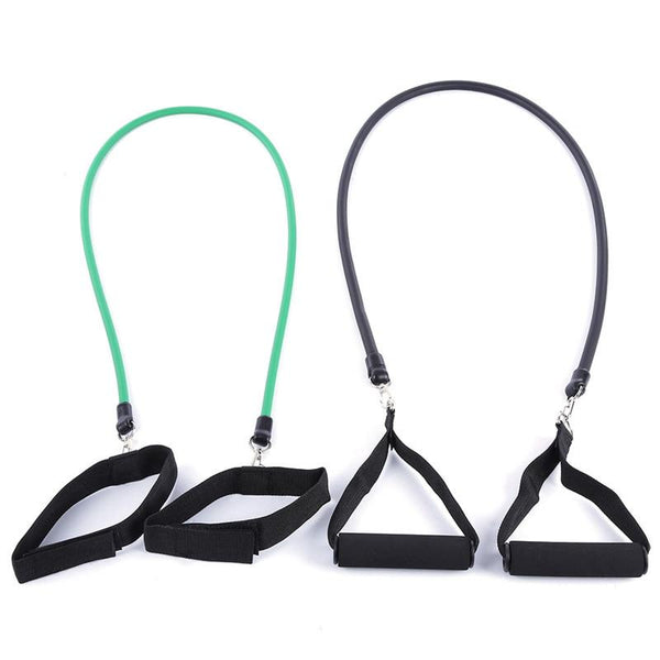 11 PCS Set Pilates Latex Tubing Expanders Exercise Tubes Practical Strength Resistance Band