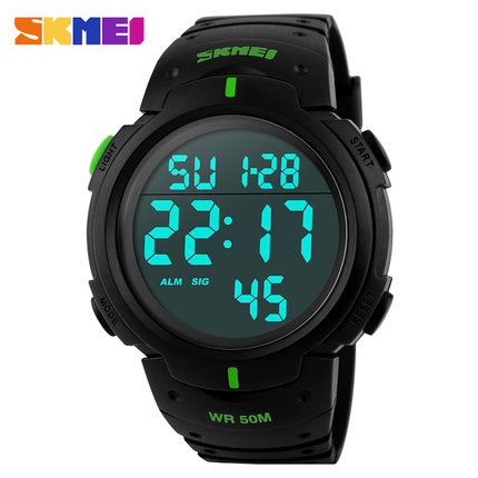 Luxury LED Military Watch Brand Mens Sports Watch WR50M