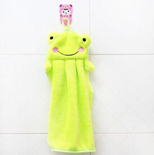 Soft Hand Towel  Children's Cartoon Animal Hanging Wipe Bath Face Towel