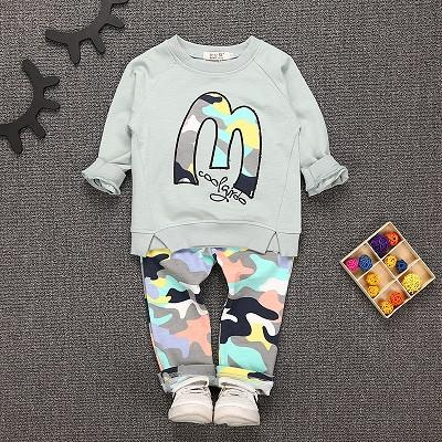 Baby Boys and Girls Clothes Kids Clothes Suit  Tops + Pants 2pcs 1-5yrs
