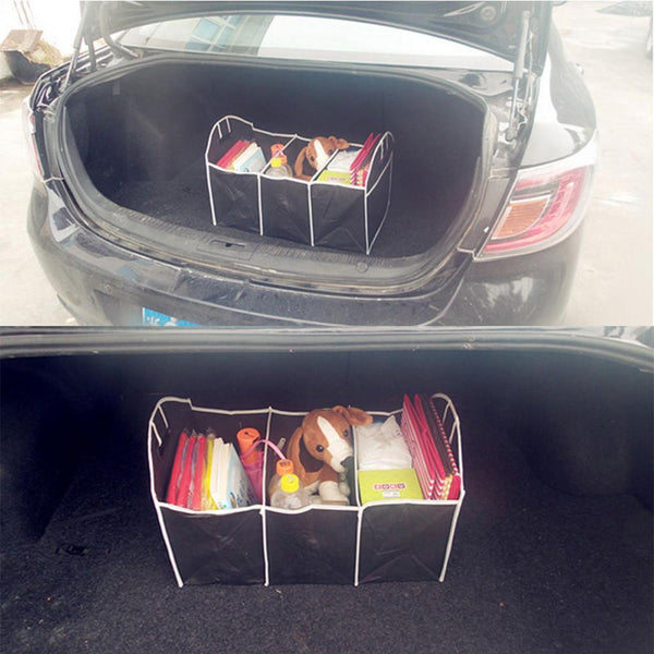 Outdoor Extra Large Car Auto Trunk Organizer with 3 Compartments Folded Organization Bag