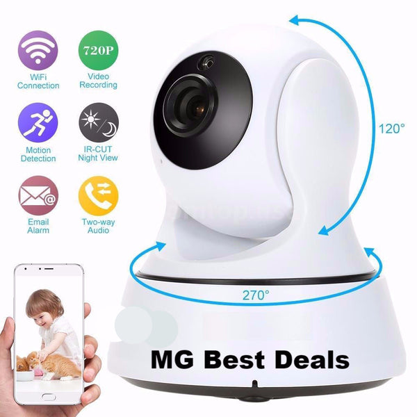 Wireless 720P Network Security CCTV IP Camera Night Vision WiFi Webcam Pan Tilt Home Surveillance Alarm System OEM