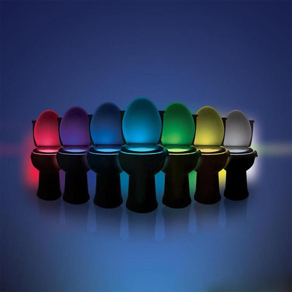 Automatic Toilet LED Lamp Human Motion Activated PIR 8 Colours Automatic RGB Night lighting home light