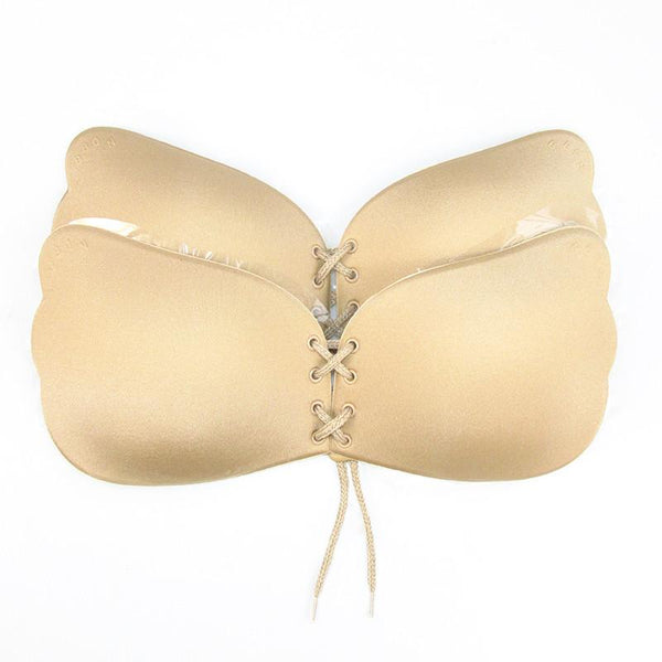 Sexy Women Strapless Backless Seamless Invisible Bra Self-Adhesive Push Up Free Stick On Wedding Dress Silicone