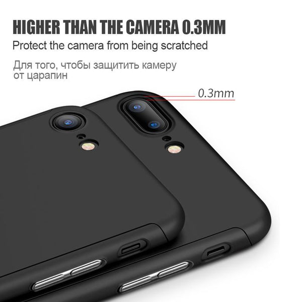 Anti-knock Drop-proof Case For Apple iPhone 7 6 6s Plus Luxury 360D