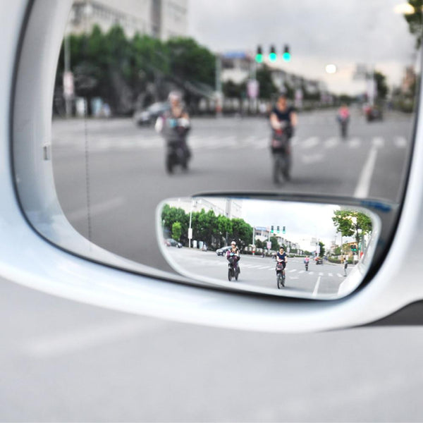 Car Mirror 360 Degree Wide Angle Convex Blind Spot Mirror Parking Auto Motorcycle Rear View Adjustable Mirror Accessories 2PC