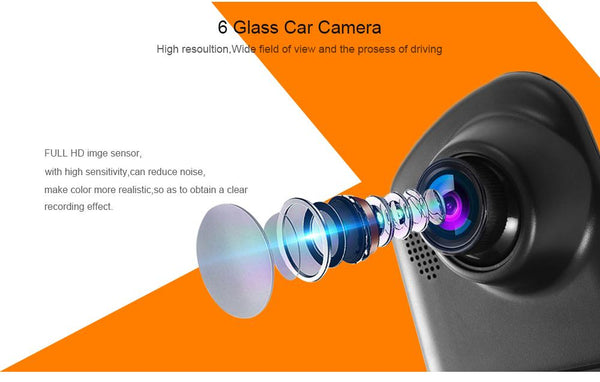 Dual Lens Car Camera with Amazing 1080P Full HD Quality 4.3 Inch Screen 170-Degree