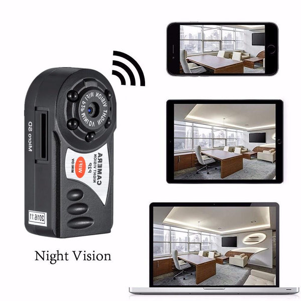 Mini DV Q7 Camera Wifi DVR Wireless Camcorder Video Recorder IP Camcorder Night Vision Camera Motion Detection Built-in Microphone