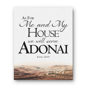 """As For Me And My House"" Actual Location - Gallery Wrapped Canvas Art"