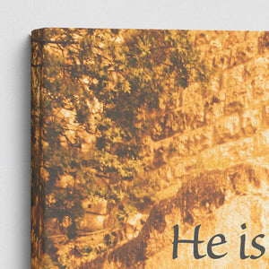 """He Is Risen"" Garden Tomb - 30x20 Large Gallery Wrapped Canvas Art"