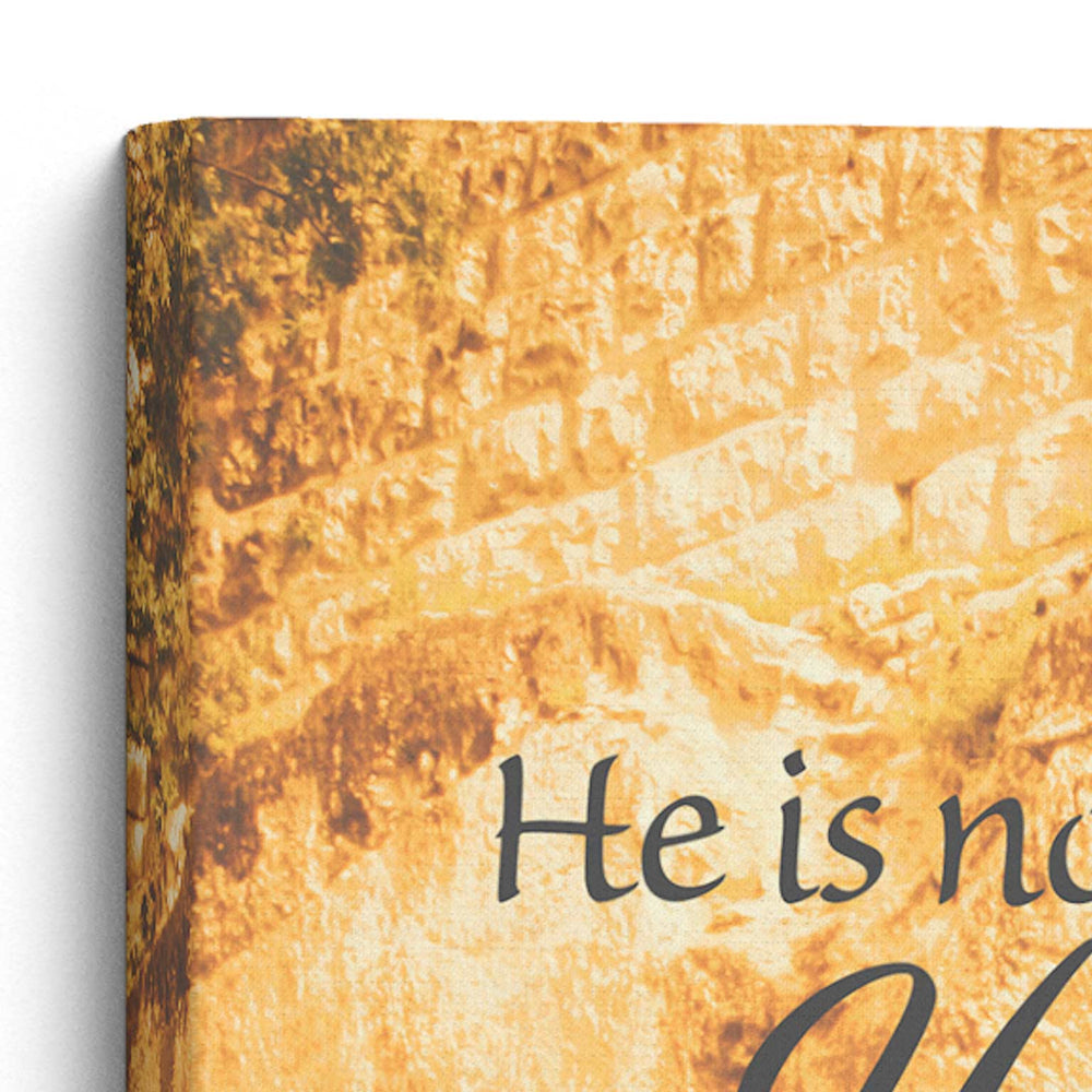 "Load image into Gallery viewer, ""He Is Risen"" Garden Tomb - 10x8 Tabletop Canvas Art"